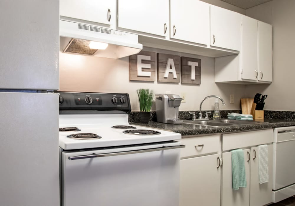 Kitchen at Willowick Apartments in College Station, Texas