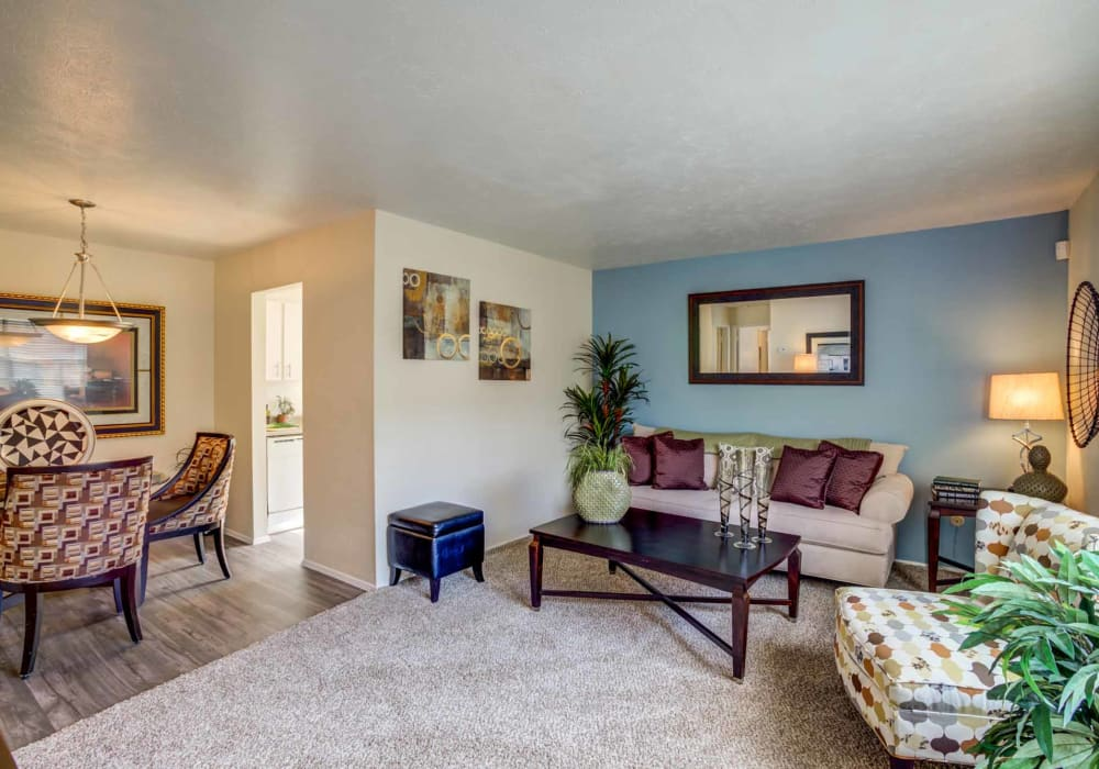 Spacious living space at Willow Oaks Apartments