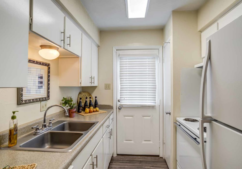 Kitchen space at Willow Oaks Apartments