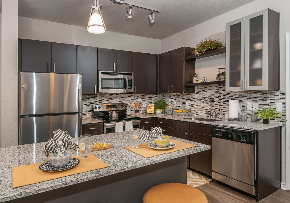 Enjoy a luxury kitchen at Wiregrass at Stone Oak in San Antonio, Texas