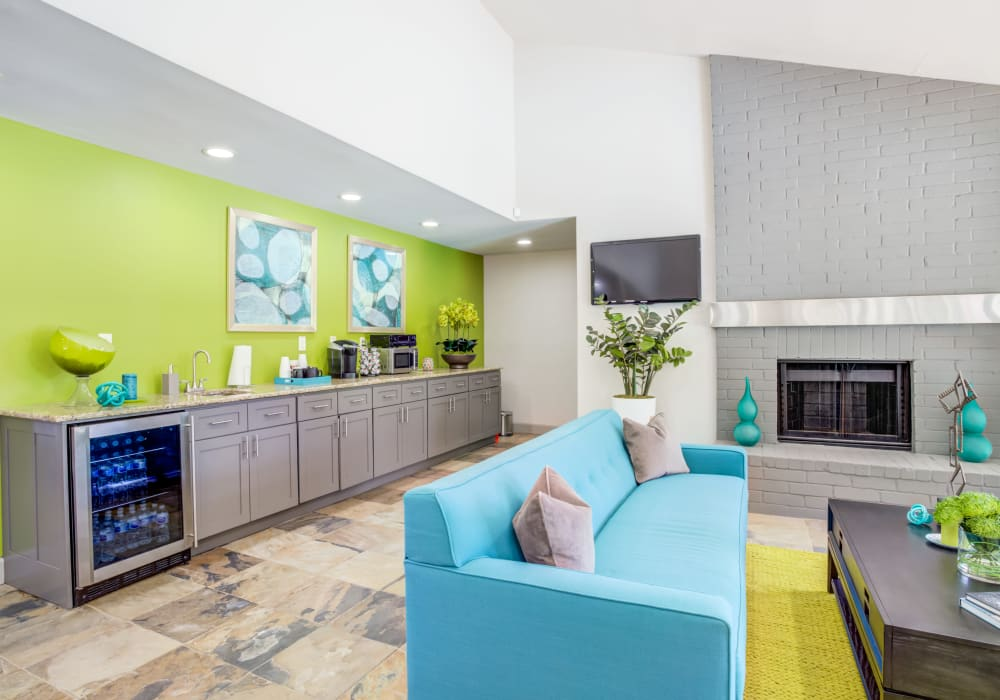 Modern Clubhouse at Woodcreek Apartments in Huntsville, Texas