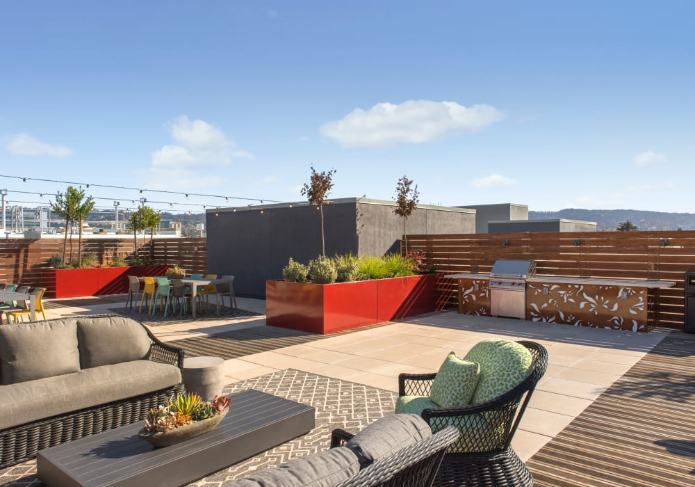 Telegraph Arts has rooftop patio with with relaxing patio furniture