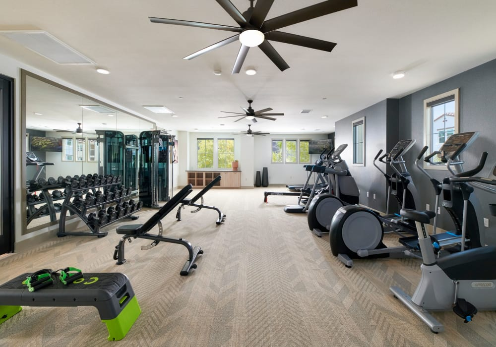 Fitness Center at Lincoln Village in Riverside, California