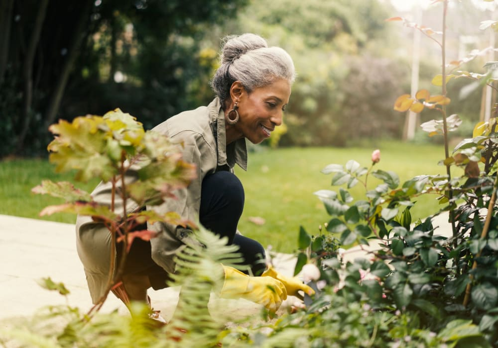 Women gardening at Golden Pond Retirement Community in Sacramento, California