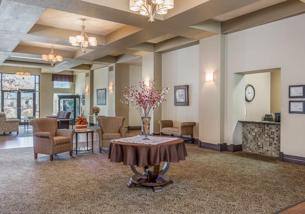 Elegant dining room at Inglenook At Brighton in Brighton, Colorado
