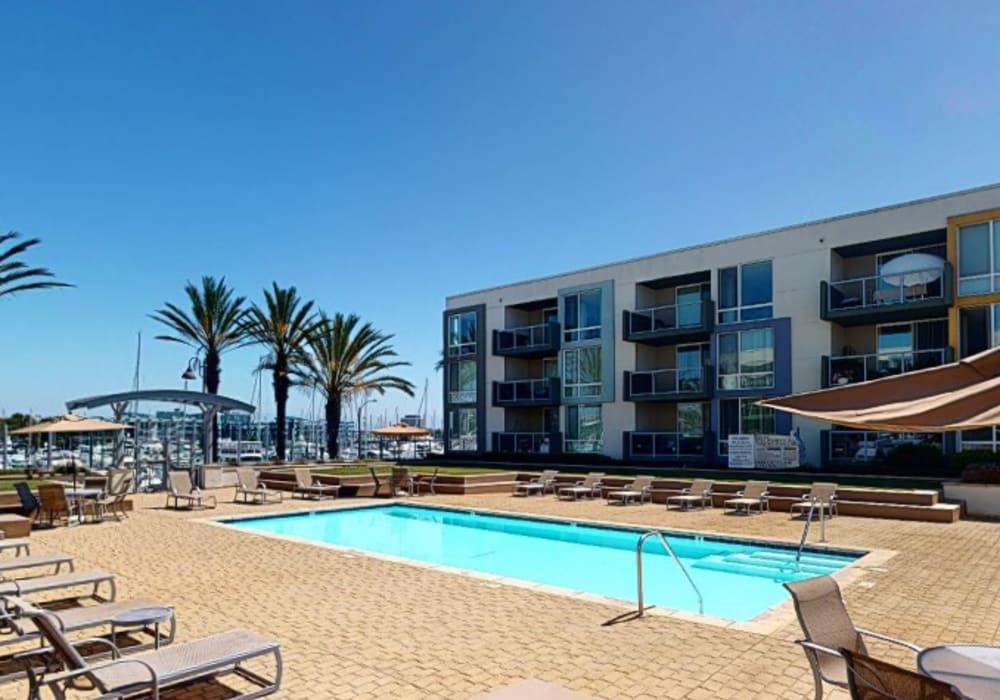View a virtual tour of the swimming pool at Waters Edge at Marina Harbor in Marina Del Rey, California