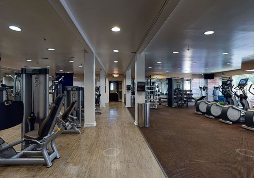 Take a virtual tour of the onsite fitness center at Mariners Village in Marina del Rey, California