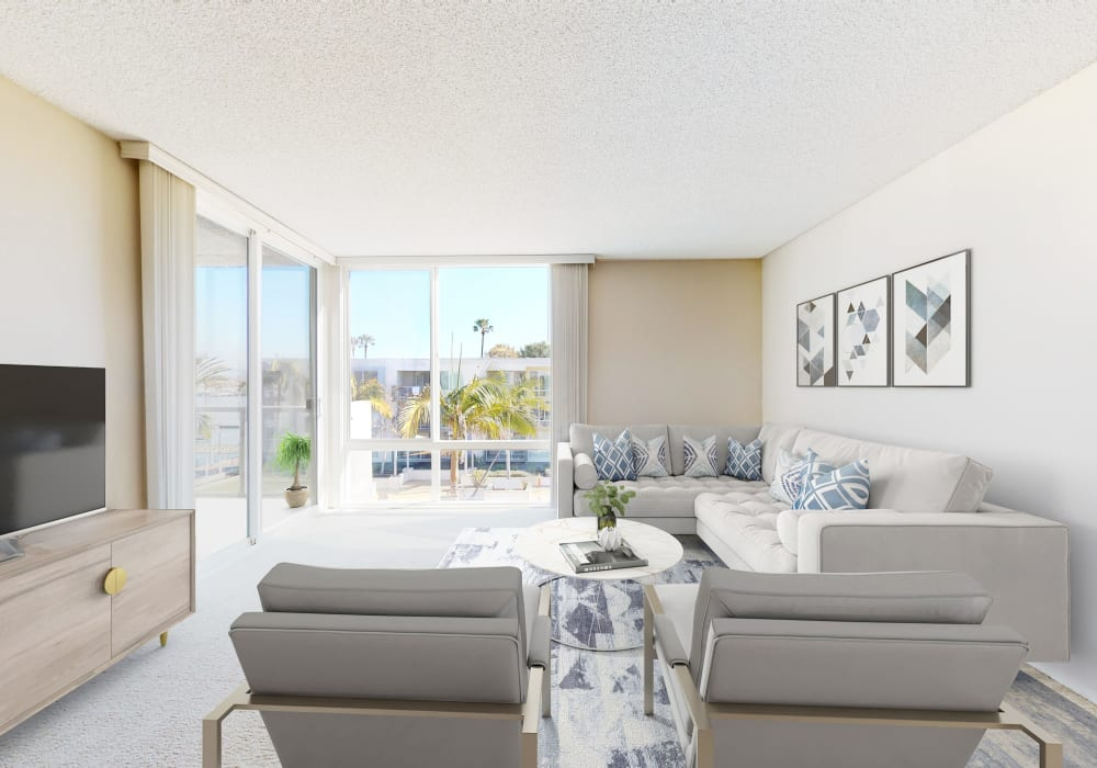 View a virtual tour of a 1 bedroom luxury home at Waters Edge at Marina Harbor in Marina del Rey, California