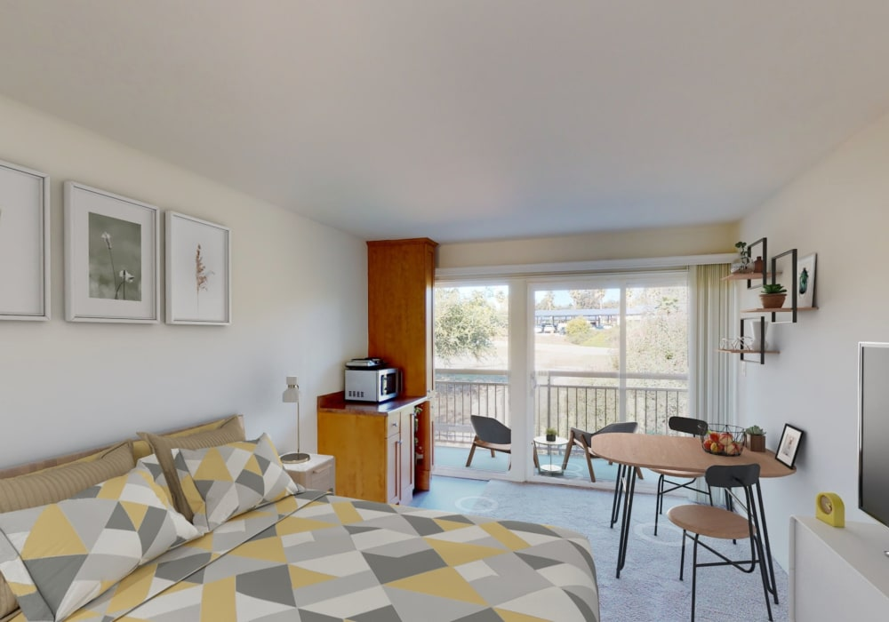 View a virtual tour of our efficiency apartments at West Park Village in Los Angeles, California