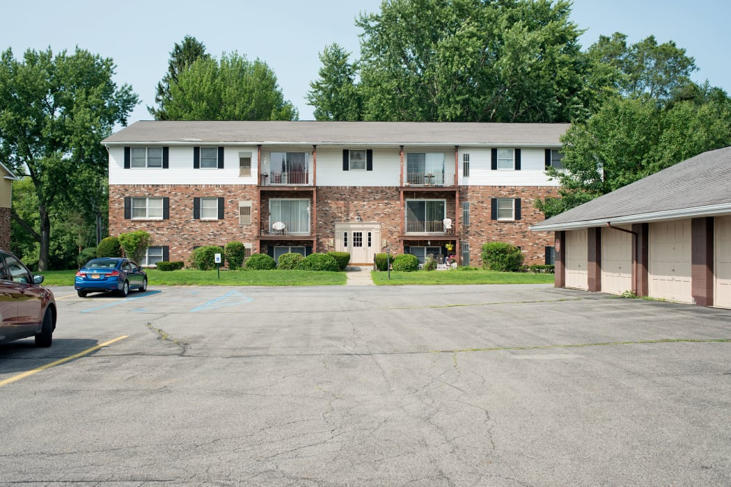 Exterior shot of Indian Brook Apartments in Glenville