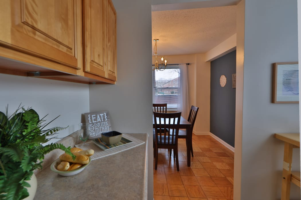 Kitchen at The Carlyle Apartments in Baltimore, Maryland