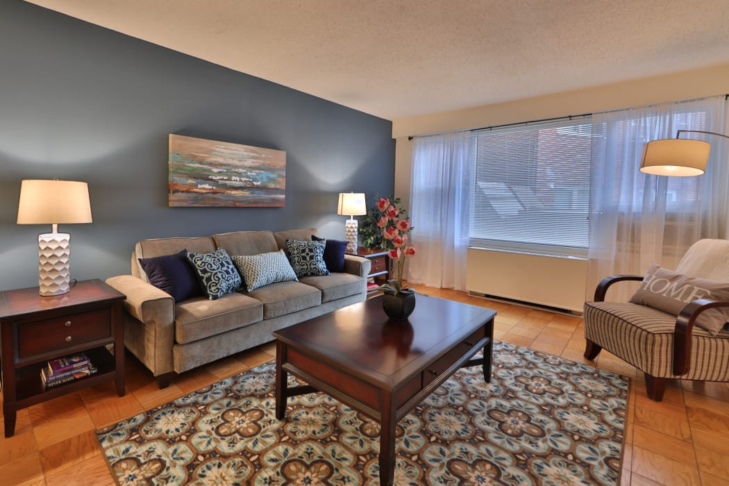 Living Room at Apartments in Baltimore, Maryland