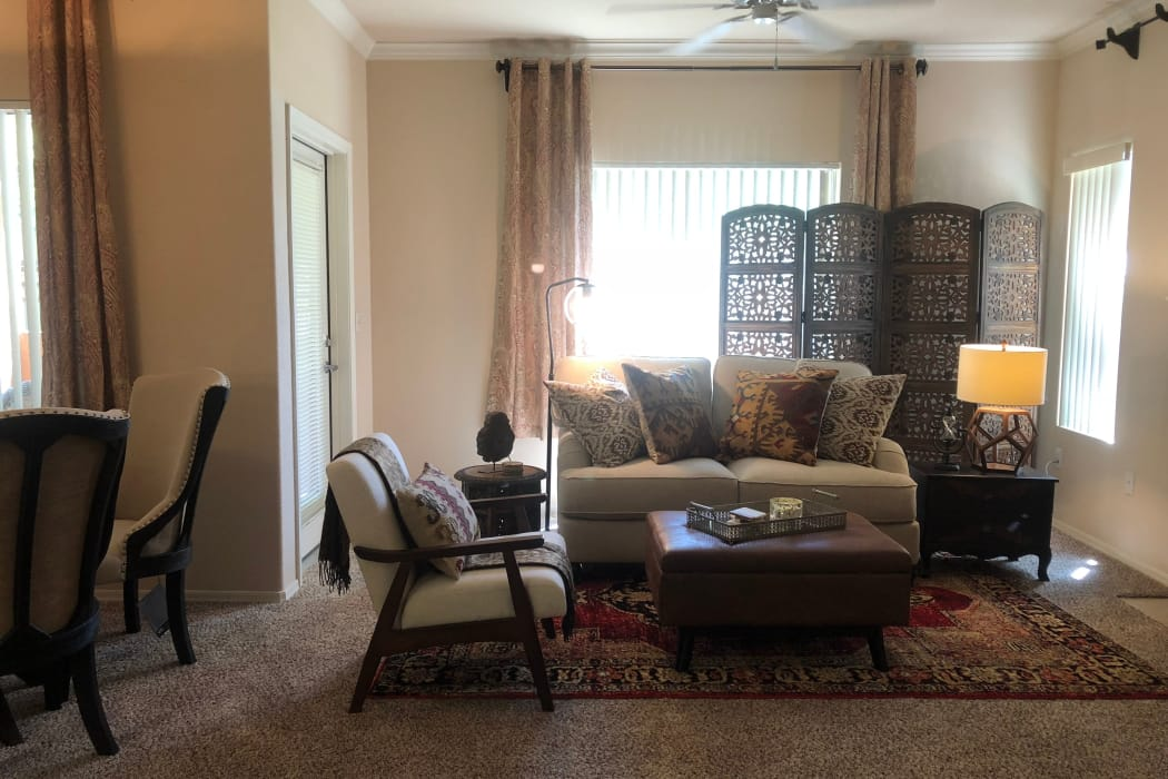 Living room at Broadstone Heights