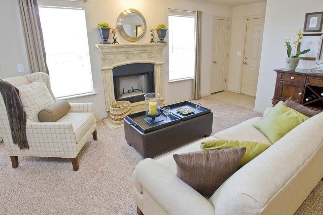 Living room at Villas at Stonebridge in Edmond, Oklahoma