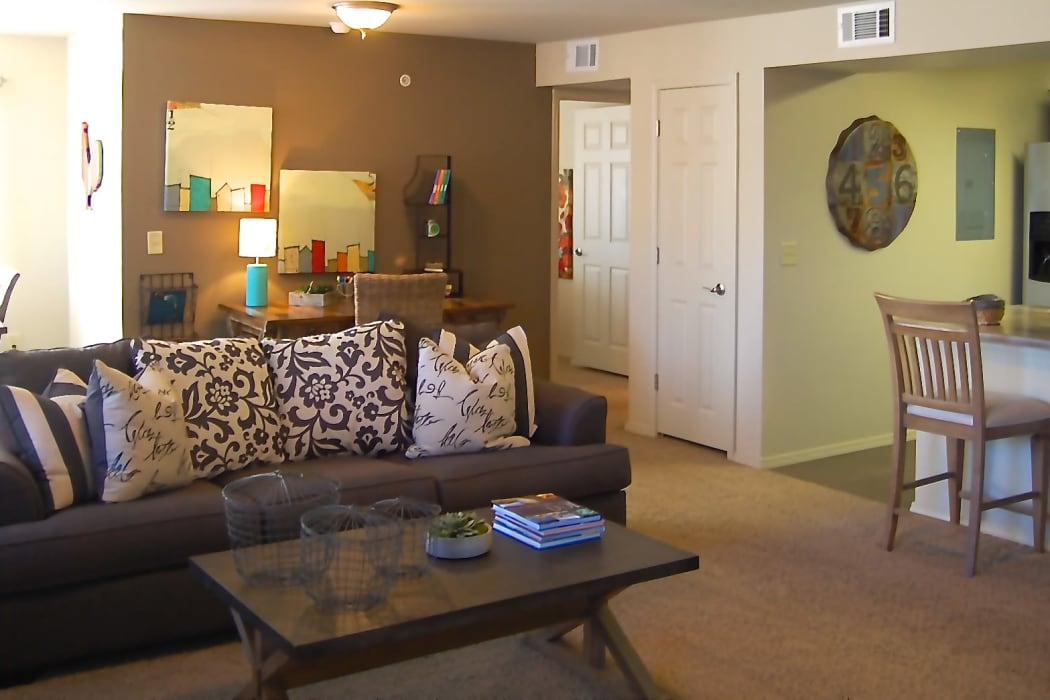 Wonderful living room at Park at Coulter in Amarillo, Texas