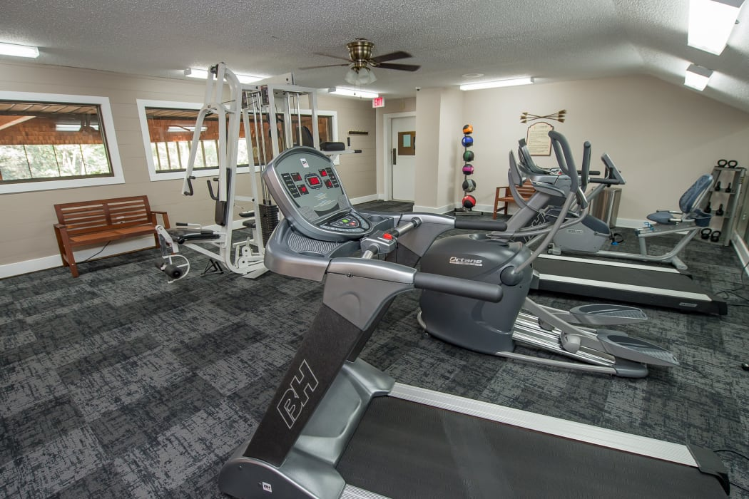 Upscale Fitness Center at Sunchase Ridgeland Apartments in Ridgeland, Mississippi