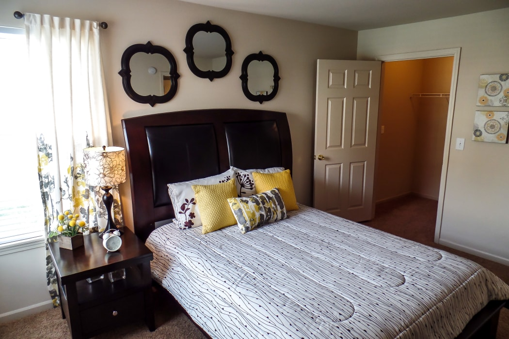 Bedroom at Winchester Apartments in Amarillo, Texas