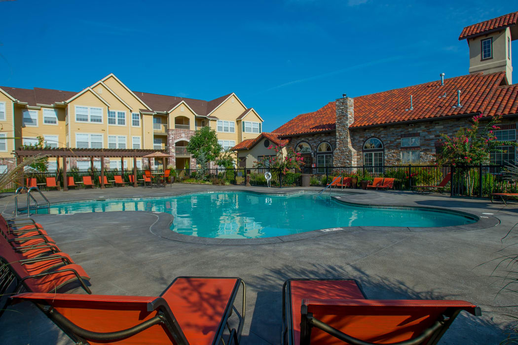 Swimming pool at Coffee Creek Apartments in Owasso, Oklahoma