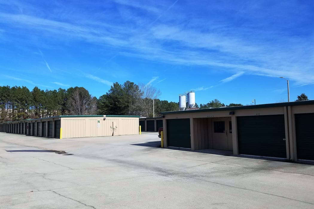 Exterior Storage Units at our self storage facility in Raleigh, North Carolina