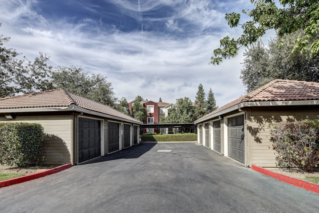 Garages available at Eaglewood Apartments in Woodland, California