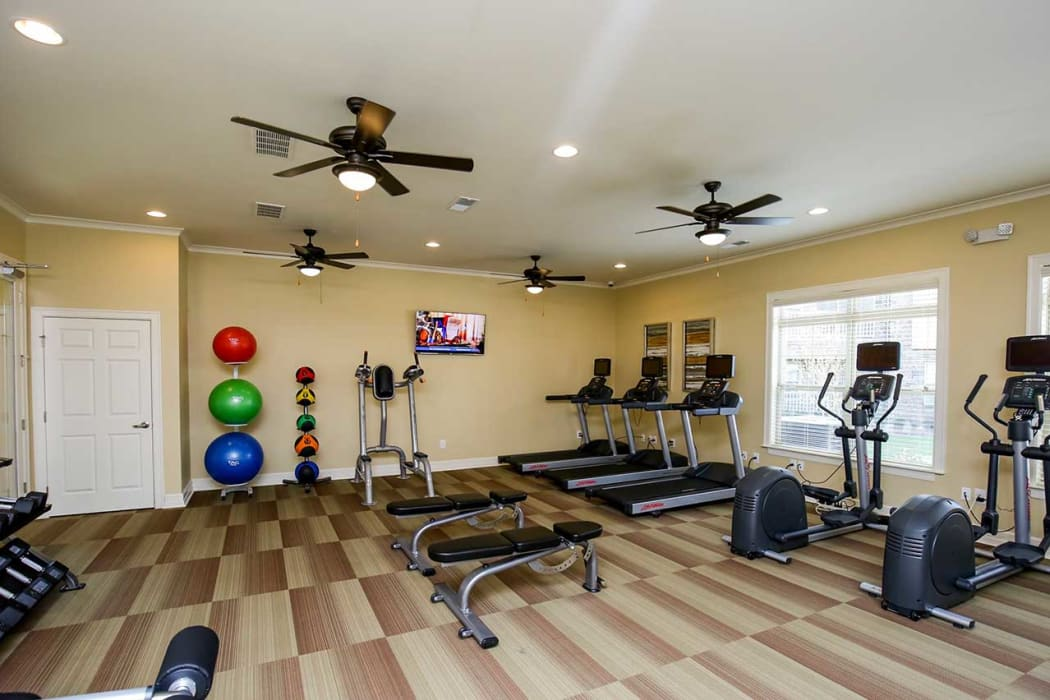 Fully equipped fitness center for residents at Commonwealth at 31 in Spring Hill, Tennessee
