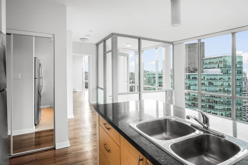 Beautiful kitchen at Bayview at Coal Harbour in Vancouver, British Columbia