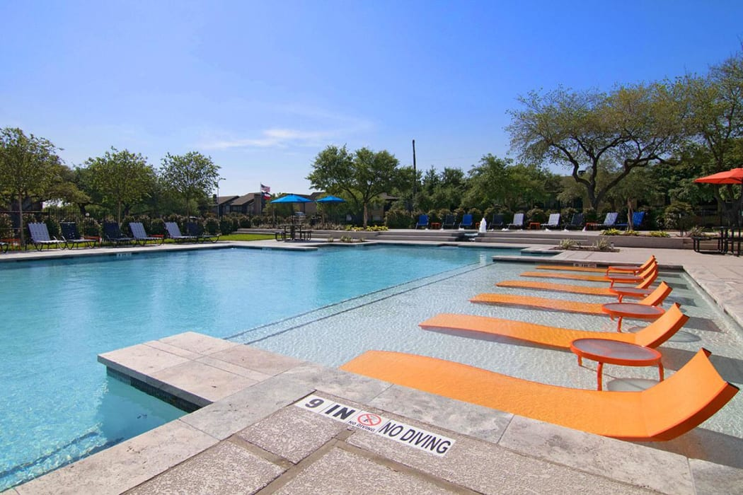 Resort style pool at 2111 Holly Hall in Houston, Texas