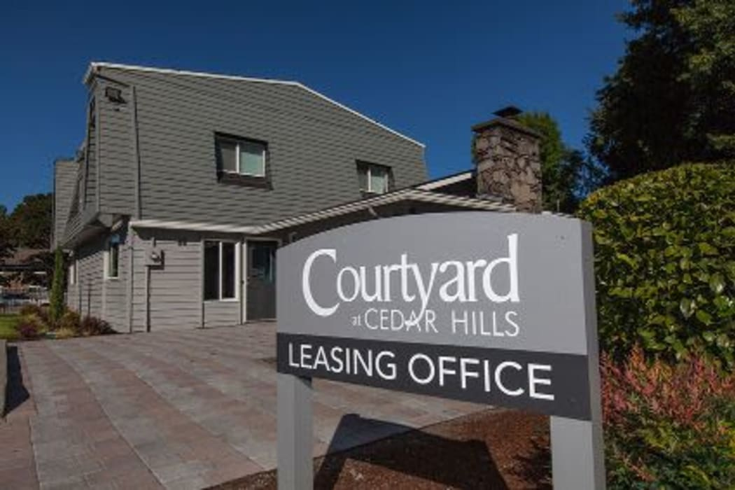 Front office at  Courtyards at Cedar Hills in Beaverton, Oregon