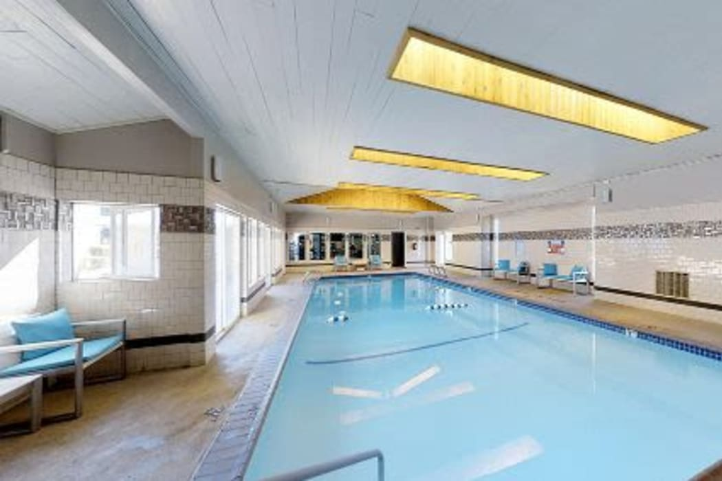 Sparkling pool at Courtyards at Cedar Hills in Beaverton, Oregon