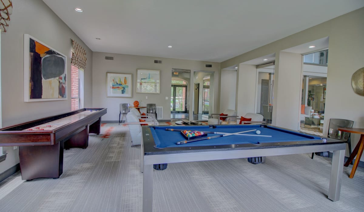 Billiard table as one of our amenities at The Park at Research Forest in The Woodlands, TX