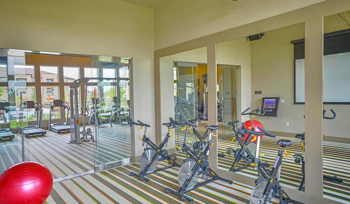 Apartments with a fitness center at Radius at Shadow Creek Ranch