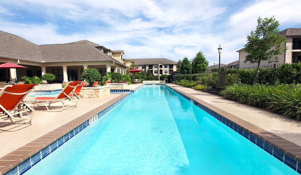 Lap lane in swimming pool at Camden Lake Apartments in Baton Rouge, LA