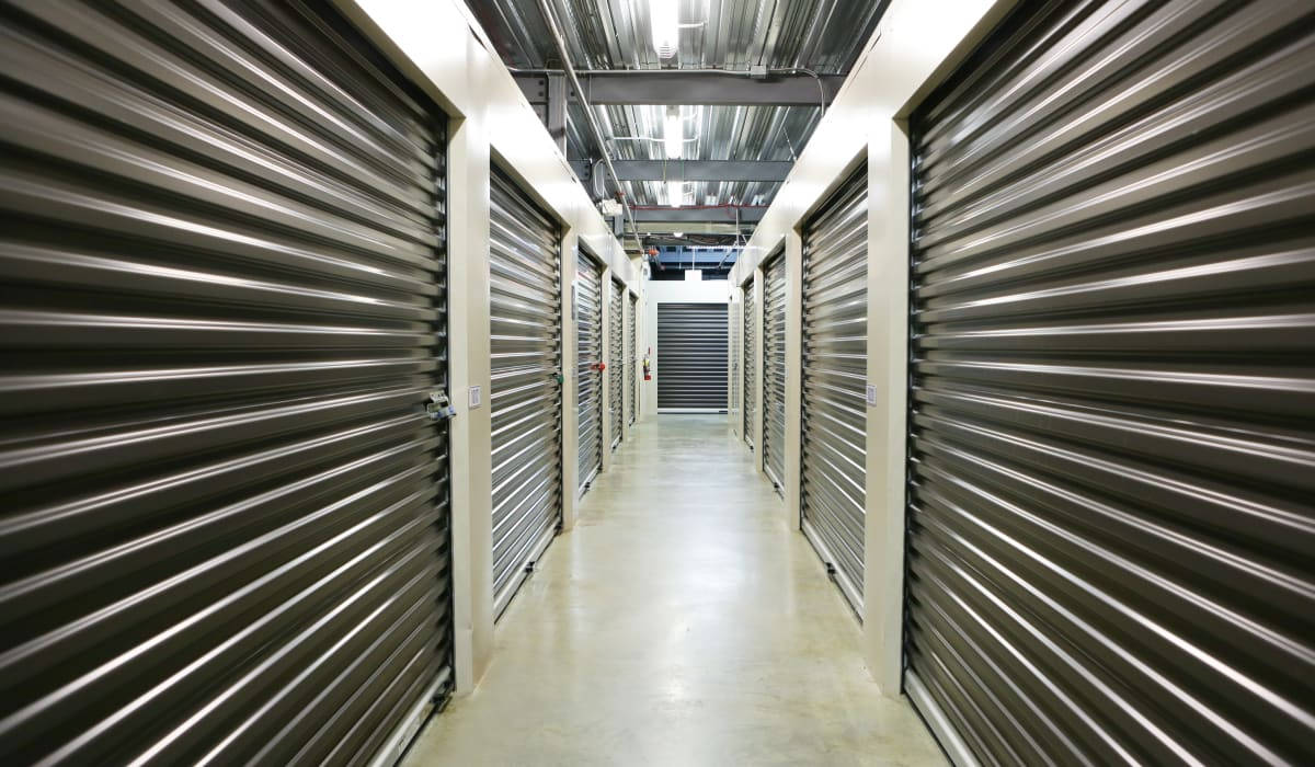 Interior units at StoreSmart Self-Storage in Buford, Georgia