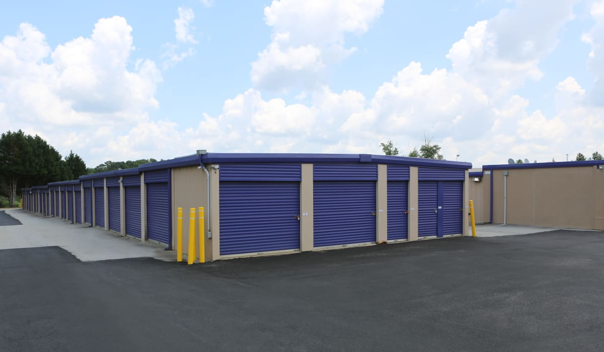 Drive-up units at StoreSmart Self-Storage in Loganville, Georgia