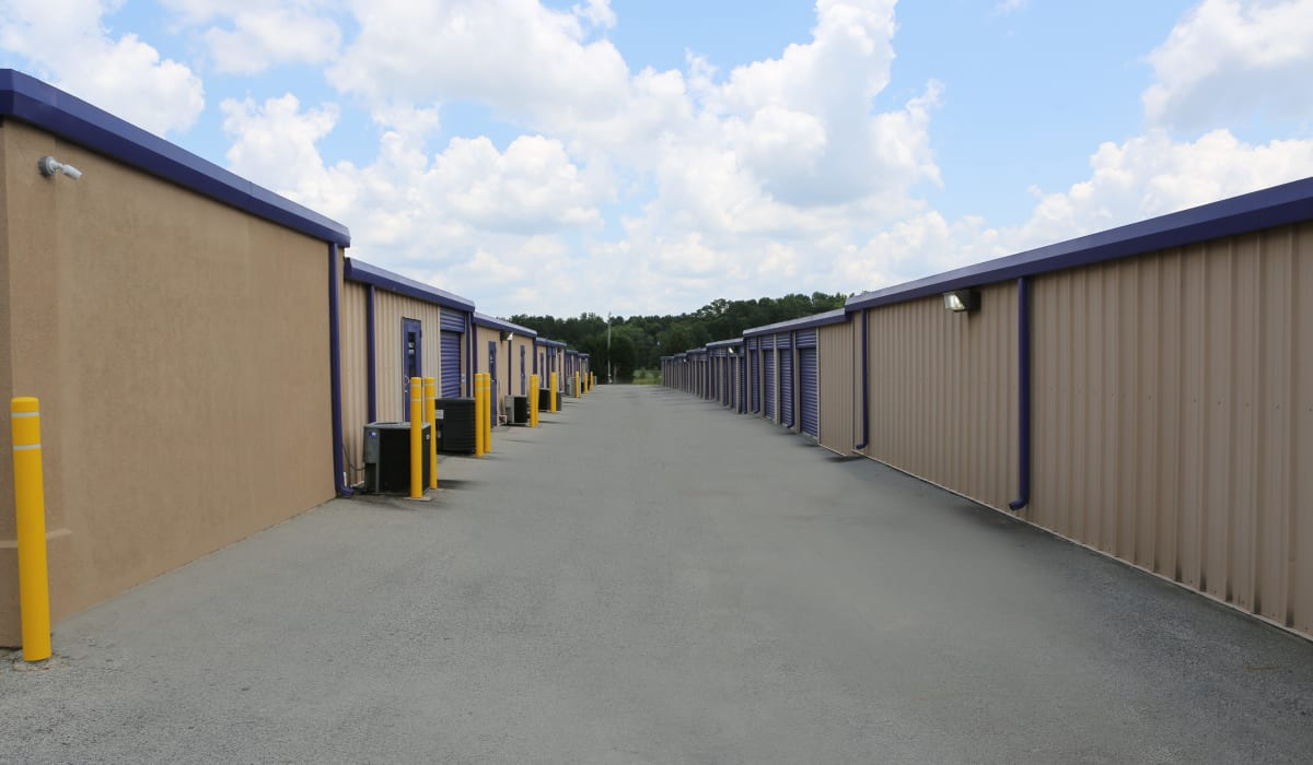 Wide driveways at StoreSmart Self-Storage in Loganville, Georgia
