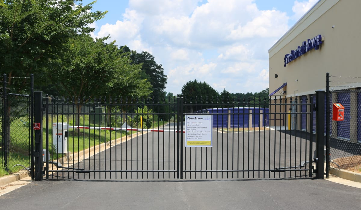 Gate at StoreSmart Self-Storage in Loganville, Georgia