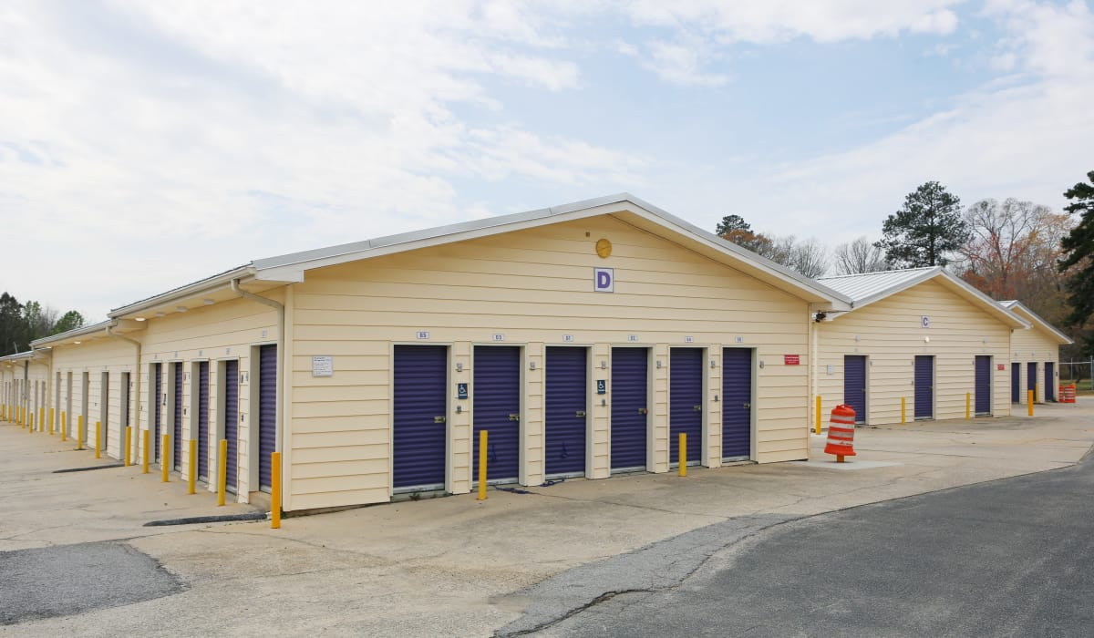 Locker units at StoreSmart Self-Storage in Fayetteville, Georgia