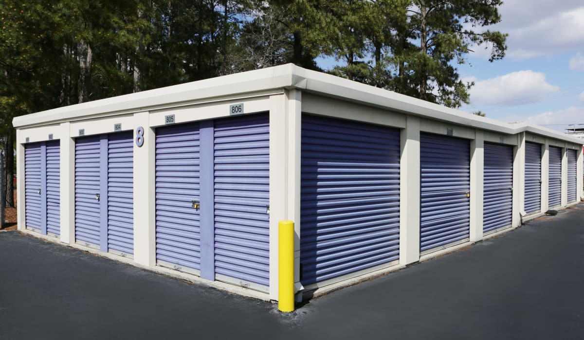 Storage units with roll-up doors at StoreSmart Self-Storage in Fayetteville, North Carolina