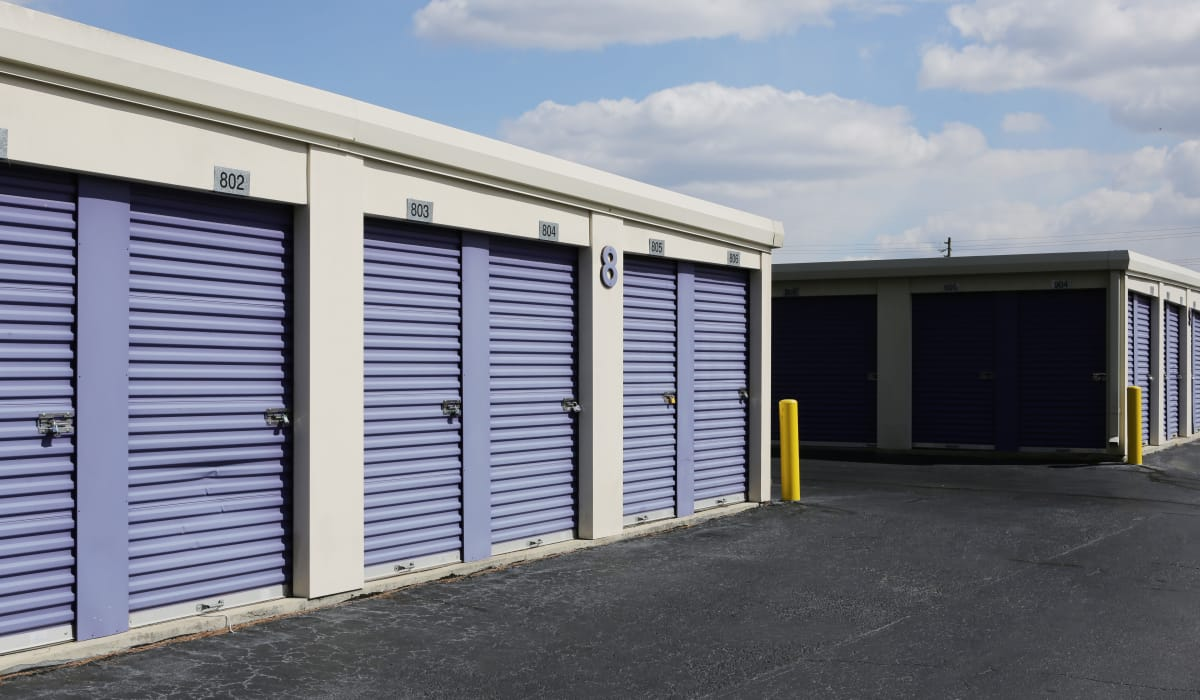Drive-up units at StoreSmart Self-Storage in Fayetteville, North Carolina