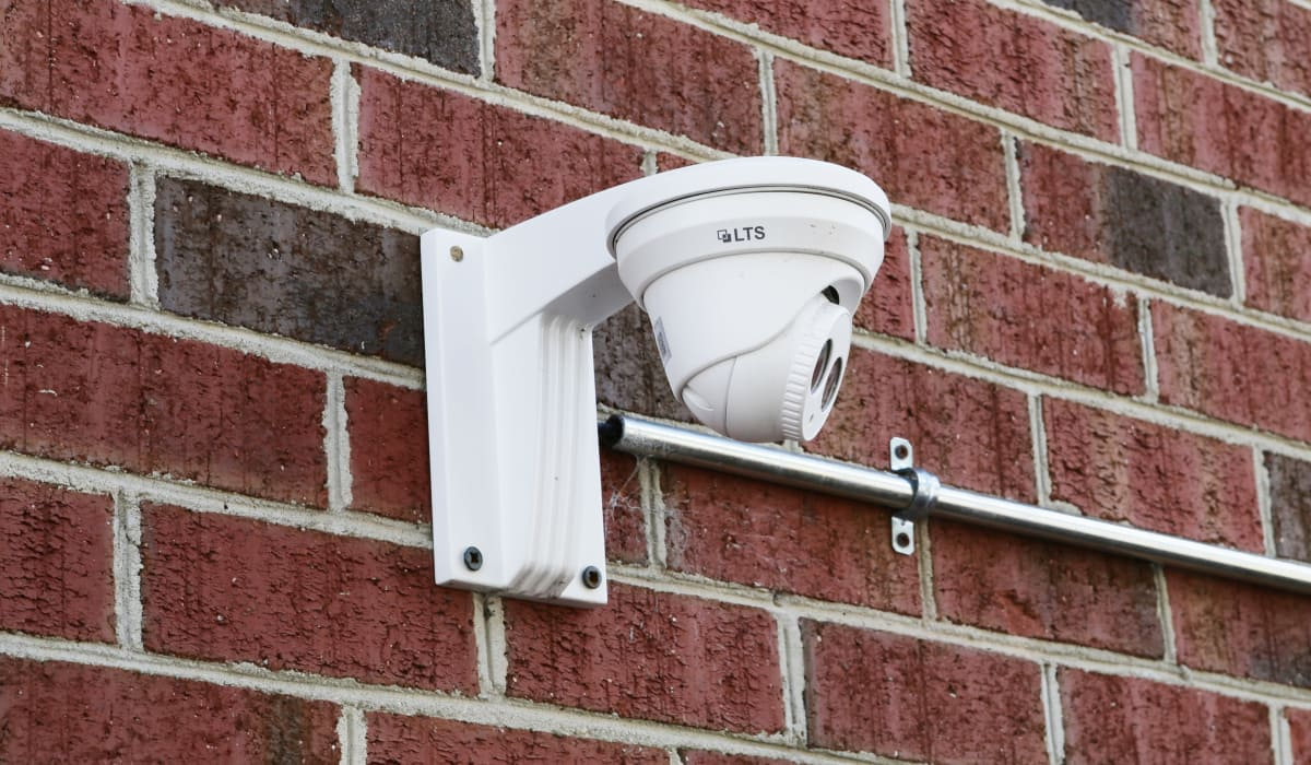 Security camera at StoreSmart Self-Storage in Fayetteville, North Carolina