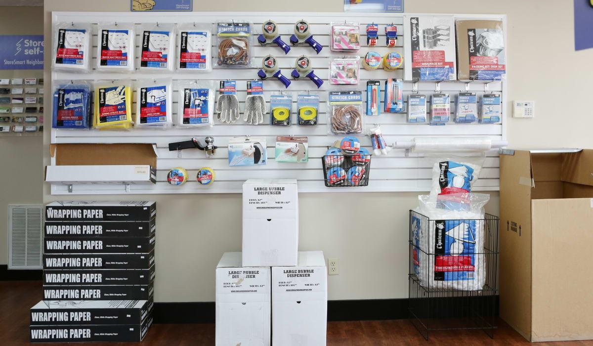 Supplies at StoreSmart Self-Storage in Fayetteville, North Carolina