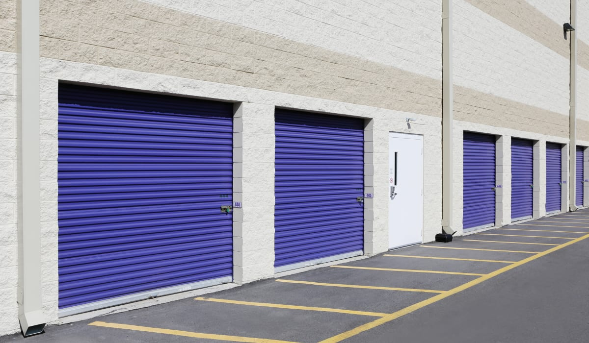 Drive-up units at StoreSmart Self-Storage in Durham, North Carolina