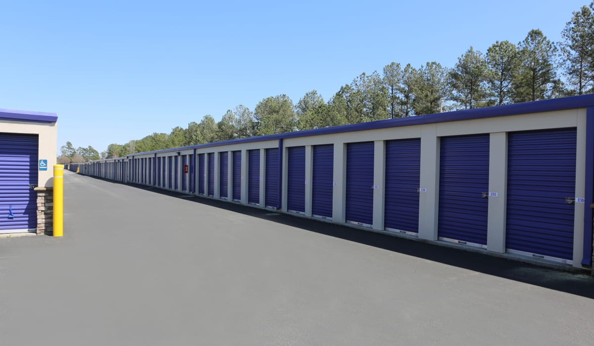 Large driveways at StoreSmart Self-Storage in Conway, South Carolina