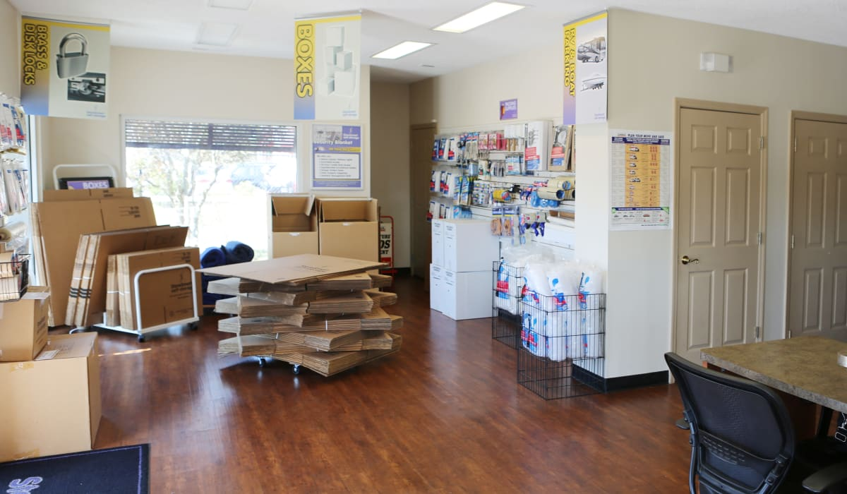 Moving supplies at StoreSmart Self-Storage in Conway, South Carolina