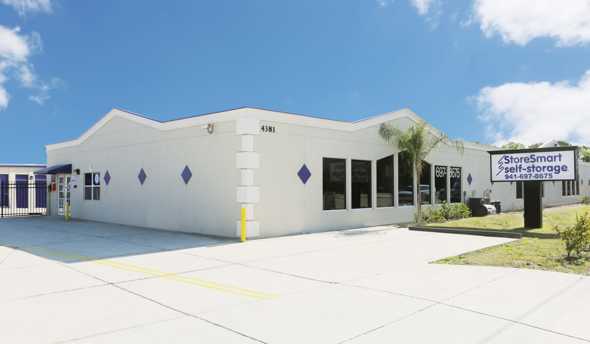 Exterior of StoreSmart Self-Storage in Englewood, Florida