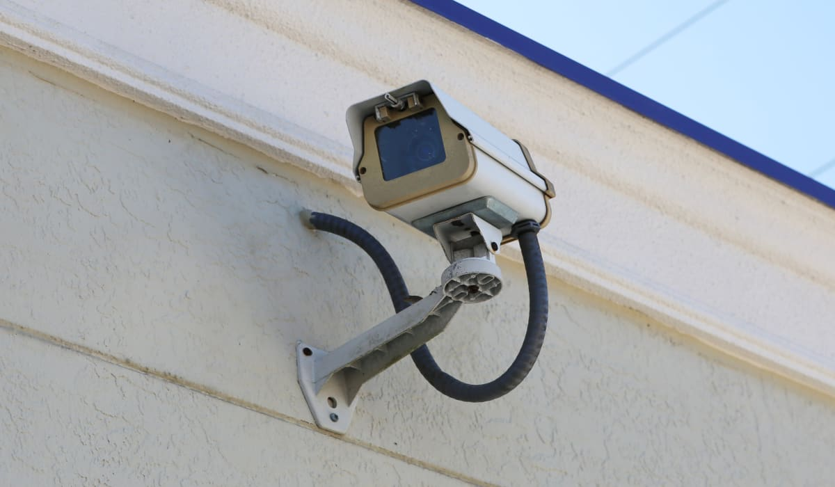 Security camera at StoreSmart Self-Storage in Englewood, Florida