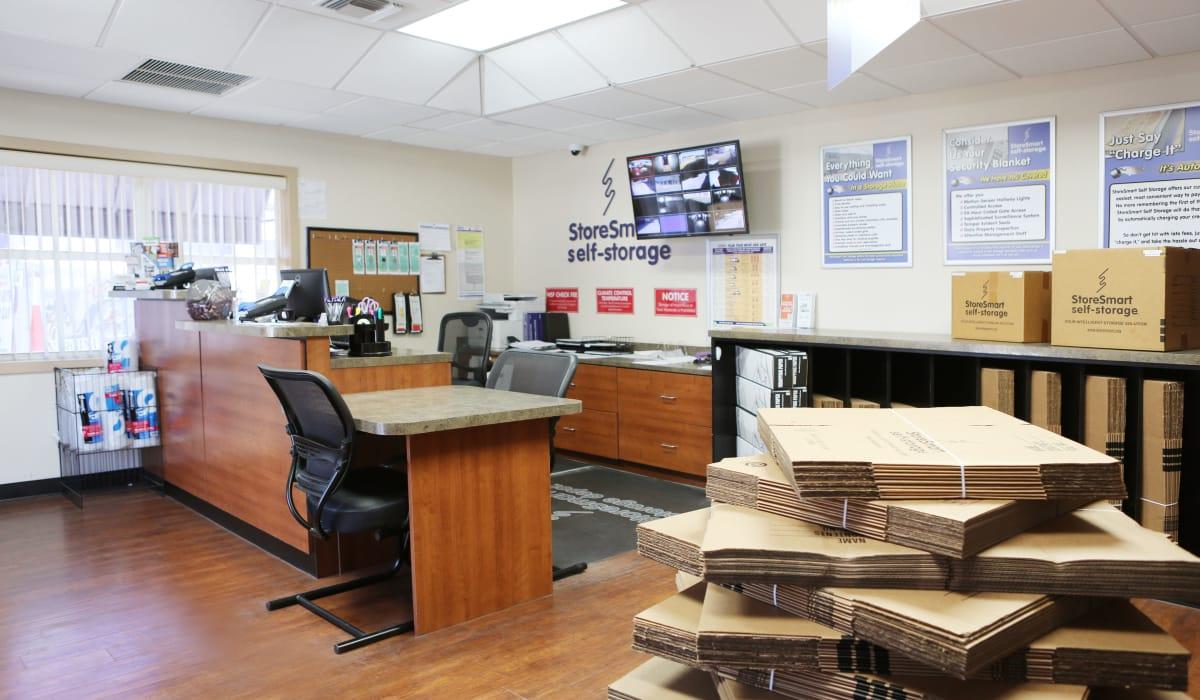 Leasing office at StoreSmart Self-Storage in Englewood, Florida