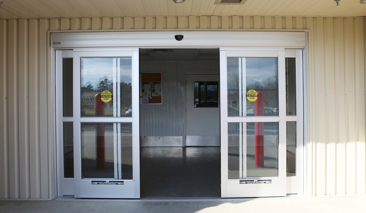 Entrance door to StoreSmart Self-Storage in Columbia, South Carolina