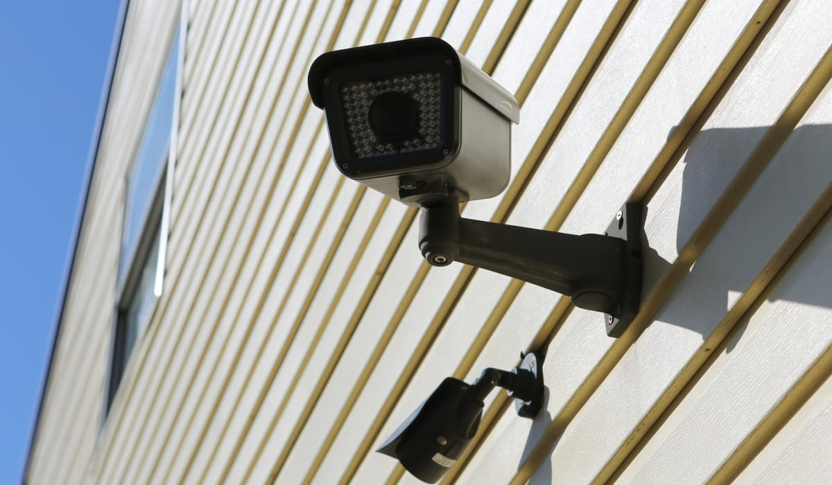 Security camera at StoreSmart Self-Storage in Conway, Arkansas