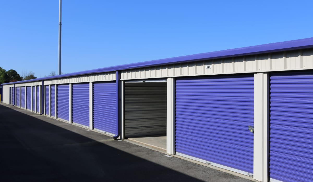 Wide driveways at StoreSmart Self-Storage in Conway, Arkansas